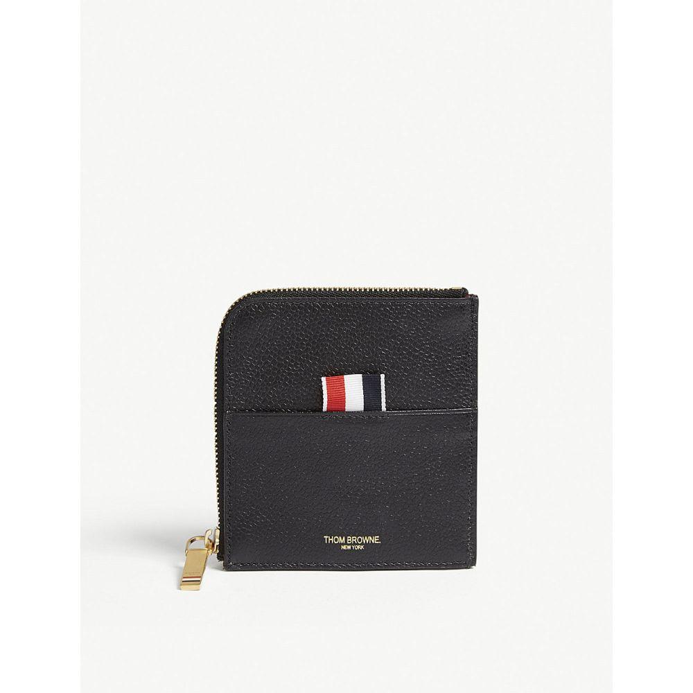 459e4ed080da トム ブラウン メンズ カードケース·名刺入れ【pebbled leather card wallet】Black トム ブラウン メンズ  財布·時計·雑貨 カードケース·名刺入れ 【サイズ交換無料】