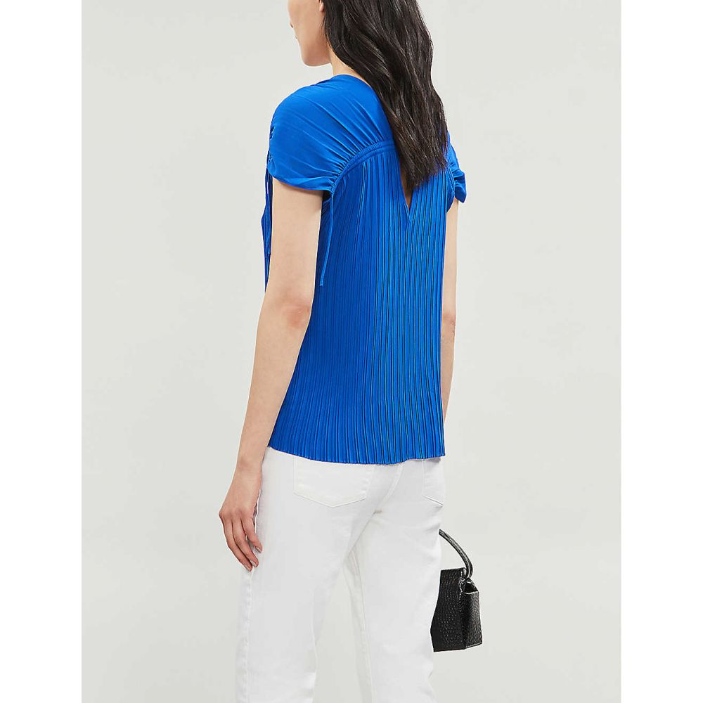 Ted Baker Top CHASTA Tie shoulder pleated top