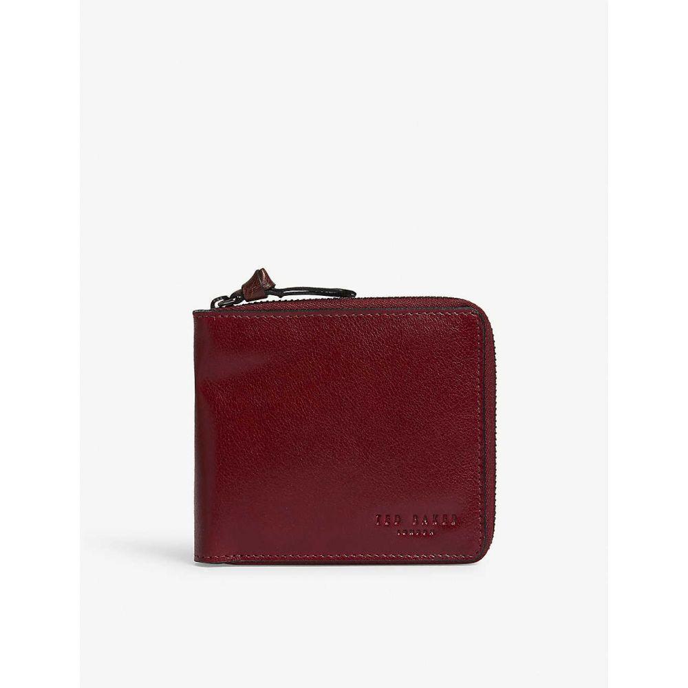 お財布 【TED BAKER Bi-fold leather wallet】 Black テッドベーカー メンズ