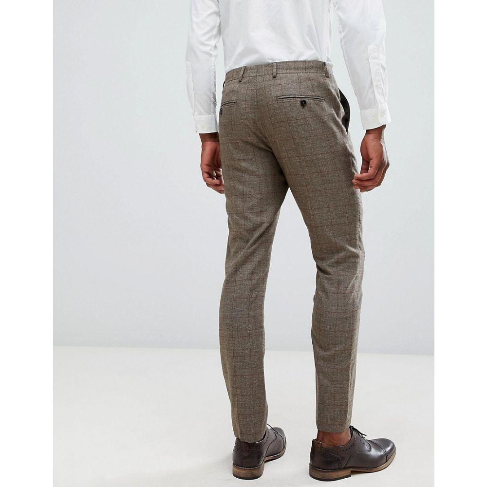 Selected Homme Slim Fit Suit Jacket In Brown Check Major brown メンズ ジャケット・ブルゾン アウター セレクテッドオム
