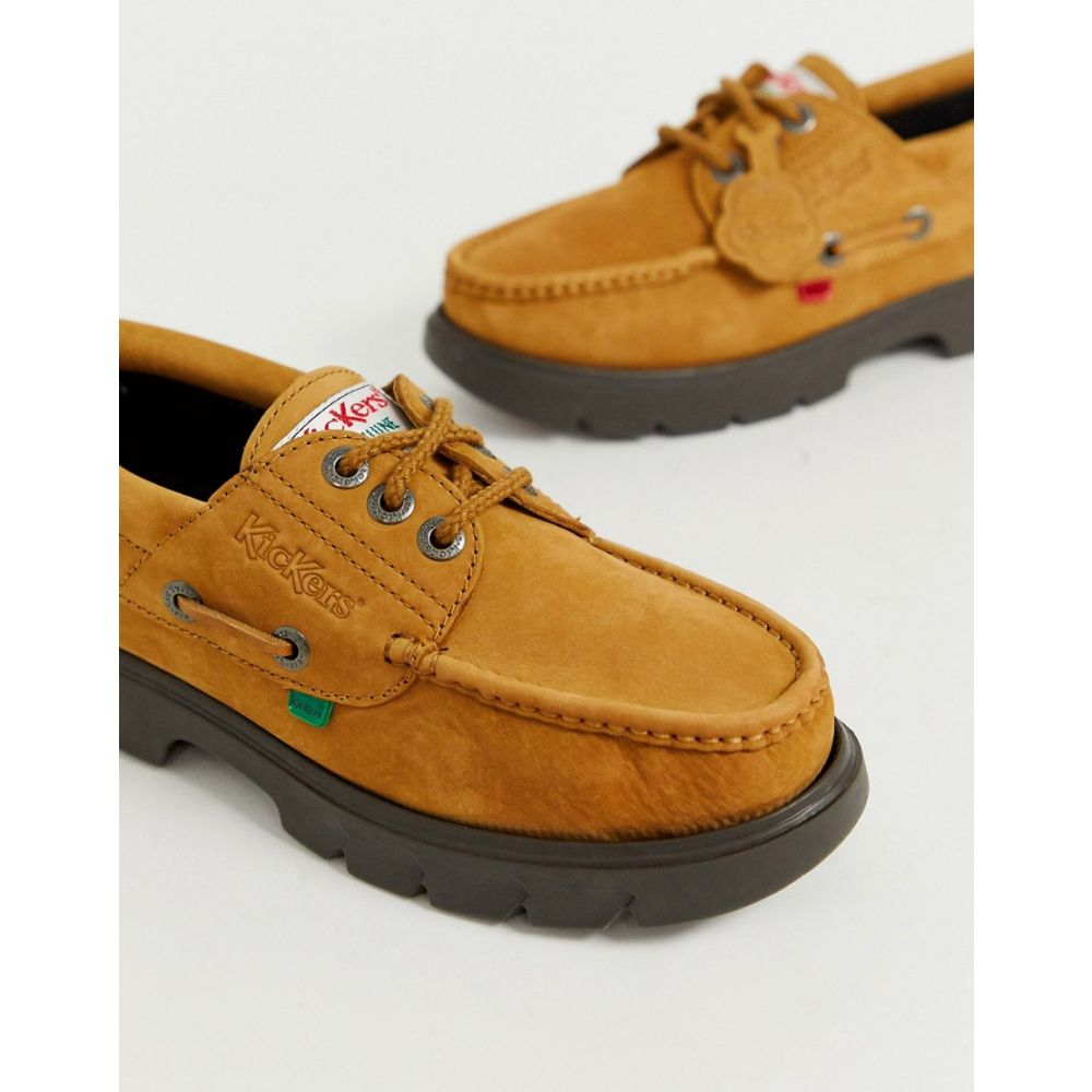 Kickers Lennon Mens Tan Boat Shoes