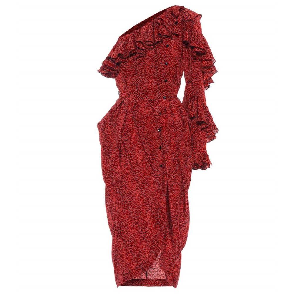 14818b28a8 フィロソフィ ディ ロレンツォ セラフィニ レディース ワンピース·ドレス ワンピース【Printed silk one-shoulder  dress】Red/Black フィロソフィ ディ ロレンツォ ...