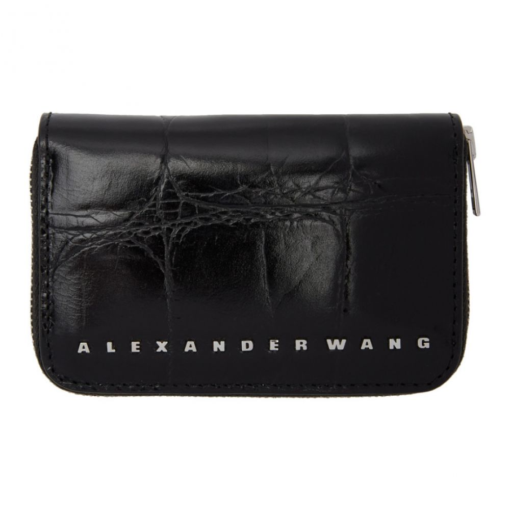 b7bcc97ec7f0 アレキサンダー ワン Alexander Wang レディース 財布【Black Croc Dime Compact Wallet】 アレキサンダー  ワン レディース 財布·時計·雑貨 財布 【サイズ交換無料】