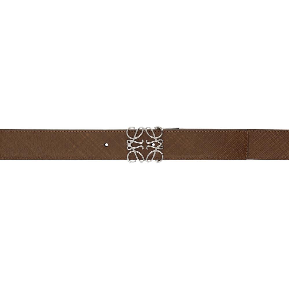 size 40 ccb05 14ce1 ロエベ メンズ ベルト【Brown Anagram Belt】:フェルマート ...