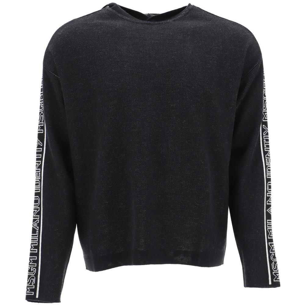 b0e51fca エムエスジーエム Msgm メンズ トップス ニット·セーター【Black wool sweater】Black エムエスジーエム メンズ トップス  ニット·セーター Black 【サイズ交換無料】