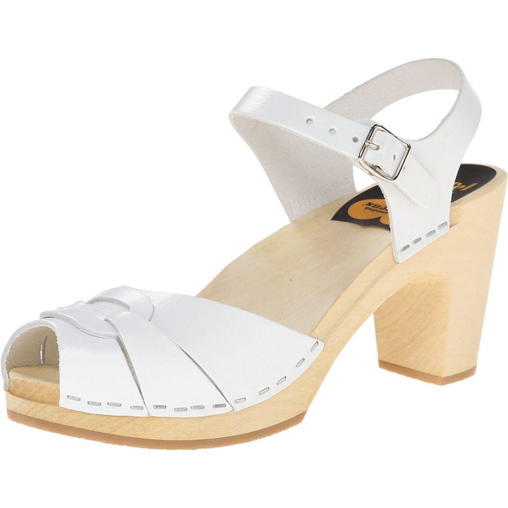 2022efdd2a2a スウェディッシュ ハズビーンズ レディース シューズ・靴 サンダル・ミュール【Peep Toe Super High】White 緊急大幅値下げ