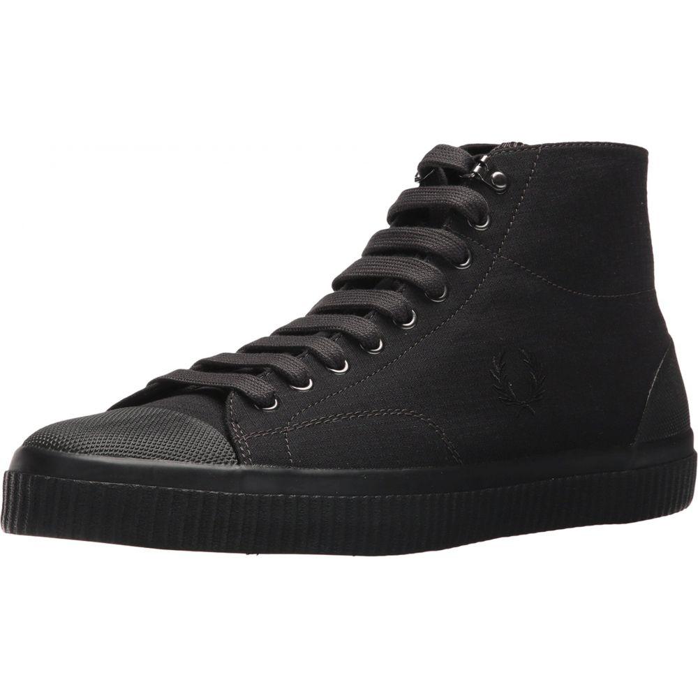 4905aa3cfc29a フレッドペリー メンズ シューズ・靴 スニーカー【Hughes Mid Shower Resistant Canvas】Black 【送料無料】