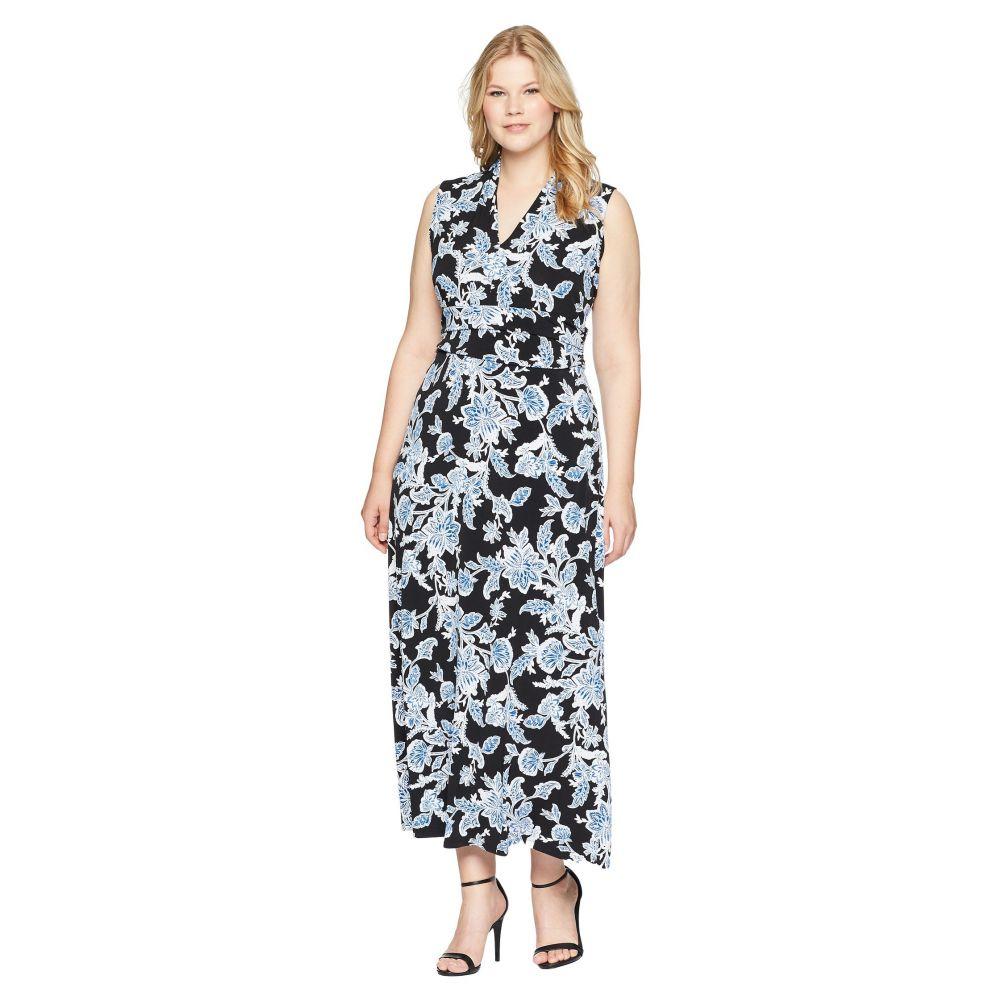 648f62ac3e7eb ヴィンス カムート レディース ワンピース・ドレス ワンピース Plus Size Woodblock Floral Halter Maxi  Dress Rich Black ヴィンス カムート レディース ...