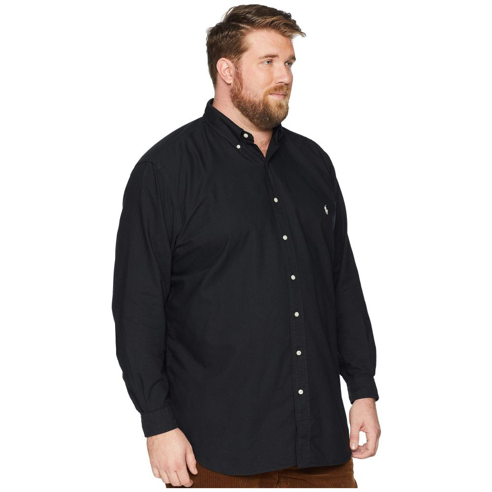 7233cef3 ラルフ ローレン Polo Ralph Lauren メンズ トップス シャツ【Big & Tall Solid Garment Dyed  Oxford Long Sleeve Classic Fit Sports Shirt】Polo Black