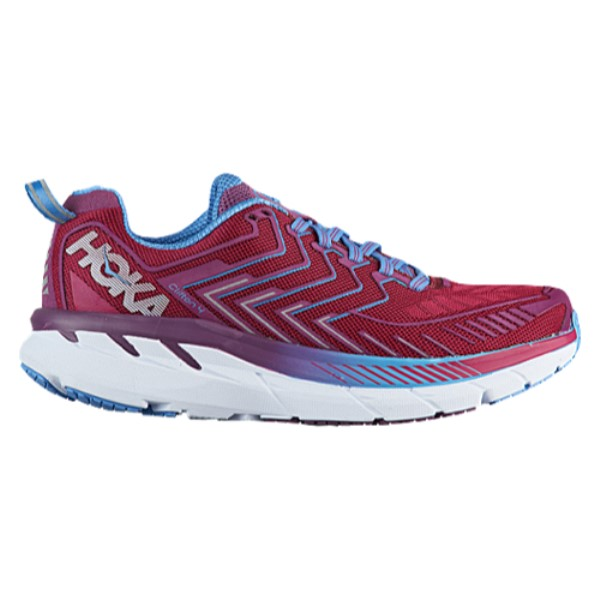 HOKA ONE ONE Clifton 4 - Women's Running Shoes - Cherries Jubilee/Purple Passion 724CJPP