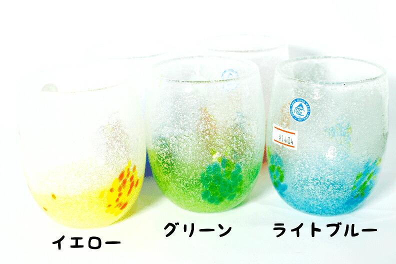 琉球ガラスタル型花見白5色p2