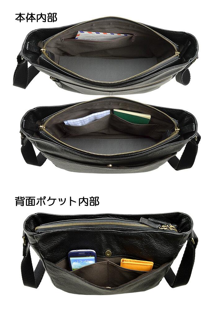 仕様2 本革 ショルダーバッグ メンズ 日本製 国産 b5 blazer club #16388