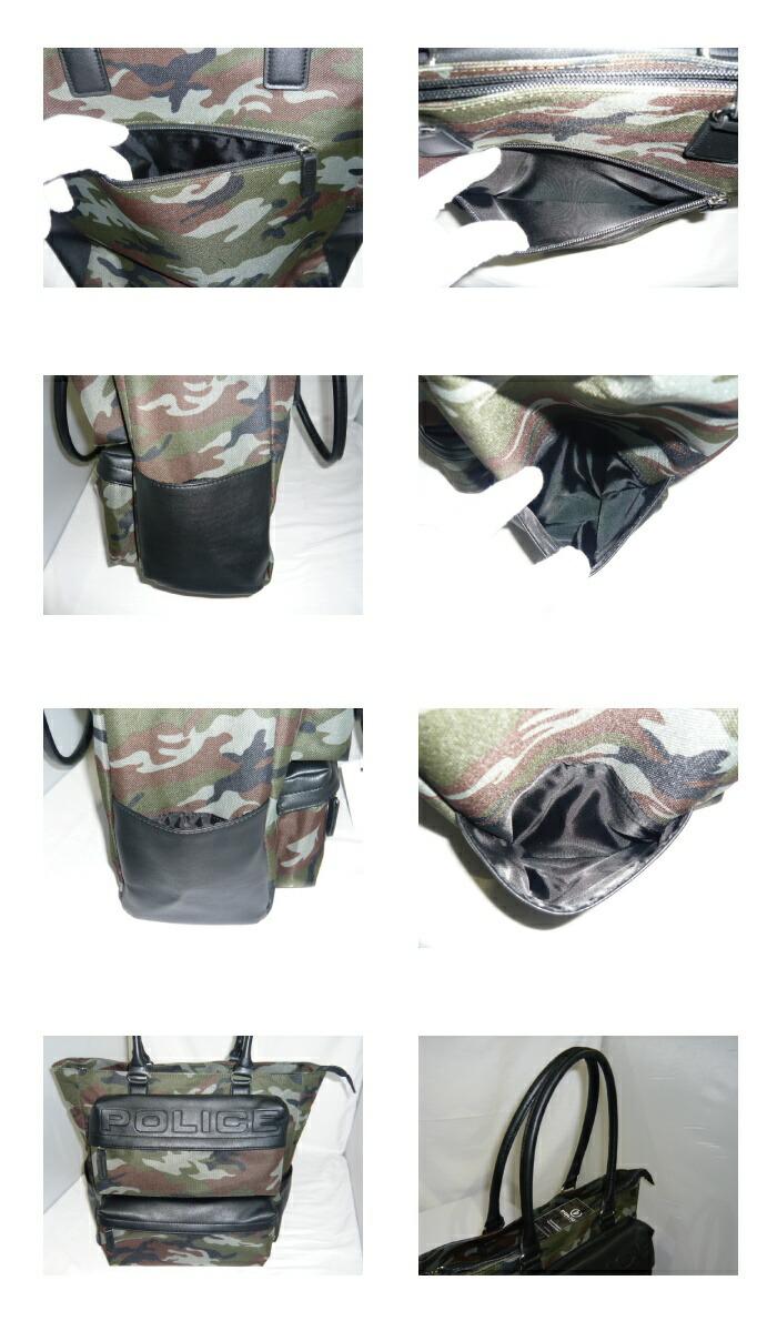34f681196e53 商品の詳細説明□ブランド名POLICE(ポリス)商品名トートバッグ商品コードPA-63001サイズ本体:W33×H33×D13cm  ハンドル高:約21cm色ブラック、カモフラージュカーキ、 ...