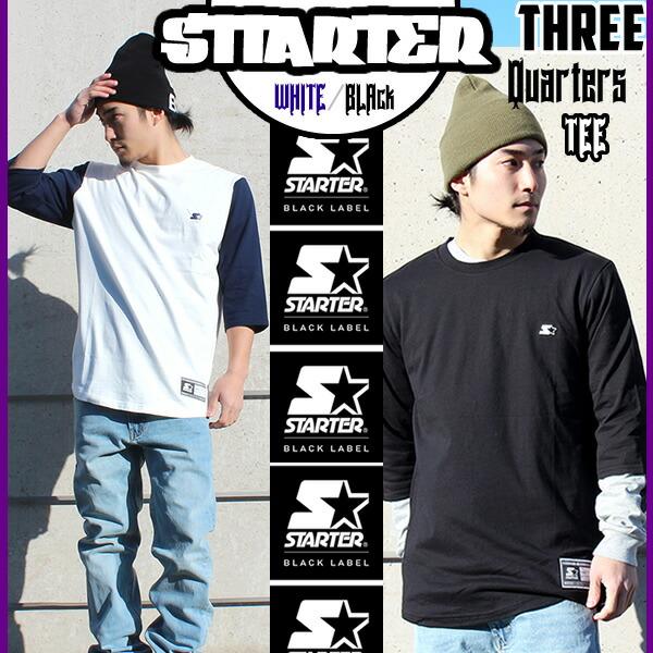STARTERの七分袖Tシャツ