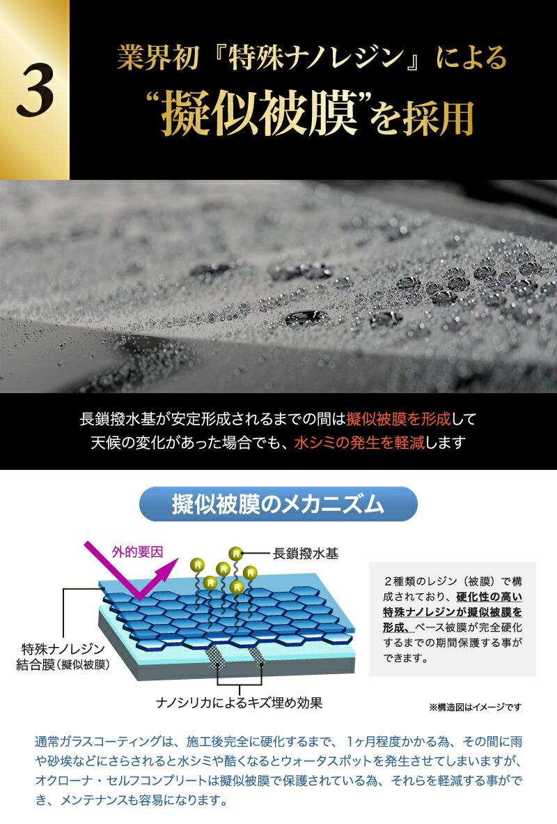 業界初「特殊ナノレジン」による疑似被膜を採用