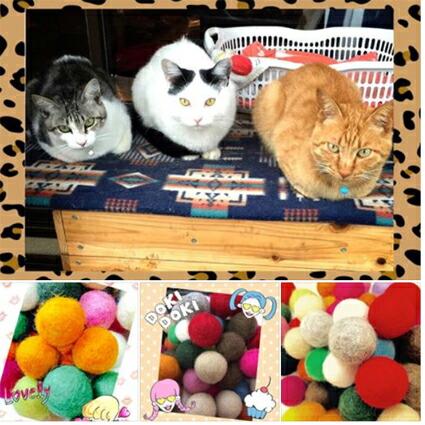 猫/犬/おもちゃ/羊毛/フェルト/ふんわり/コロリン/ボール/猫おもちゃ/ウール/猫のおもちゃ/キラキラ/キラキラボール/ラメ/ラメボール/ぽんぽん