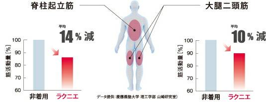 筋肉への負担の軽減を実証