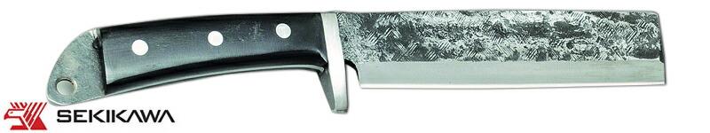 HK-2026T 鉈 鍔付 片刃 本皮ケース入