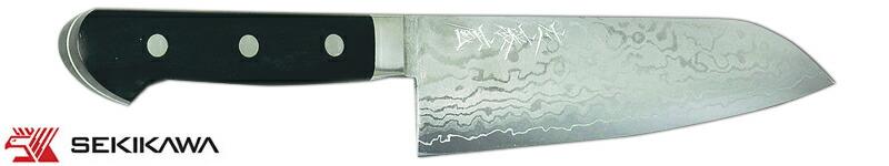 HK-2055SS 磨き積層鋼 三徳庖丁 両刃
