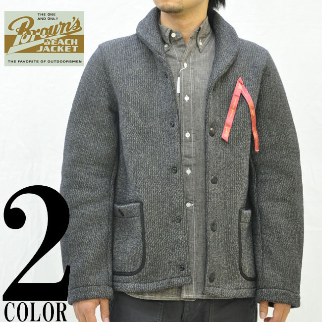 BROWN'S BEACH/ブラウンズビーチ/BROWN'S BEACH SHAWL COLLAR JACKET/ジャケット/BBJ2-006