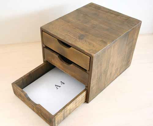 Fiscu Double Sided Chest Drawers Both Sides Drawer Small