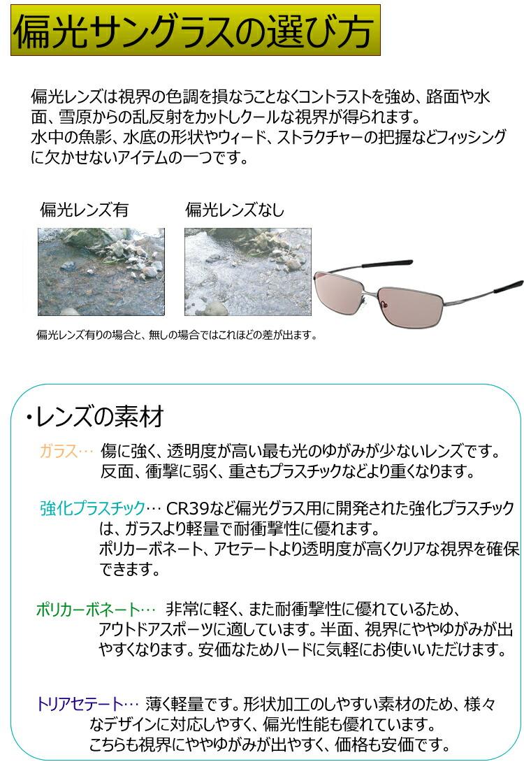 偏光サングラスの選び方、サングラスについて、レンズについて