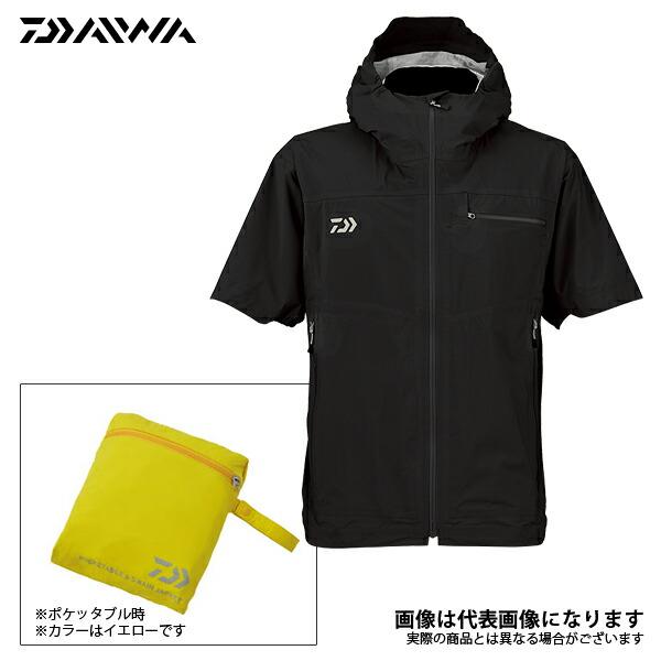 【ダイワ】DR-2308J レインマックスポケッタブルショートスリーブ レインジャケット ブラック L 2018新製品レインウェアダイワ レインウェア 雨具