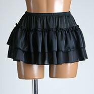 超ミニ2段ふりふりペチスカート25cm丈