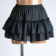 超ミニ2段ふりふ りペチスカート30cm丈