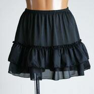 超ミニ2段ふりふ りペチスカート35cm丈