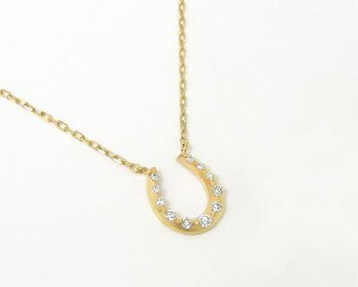 K10/K18YG・ダイヤモンド・ホースシュー【馬蹄】モチーフリング