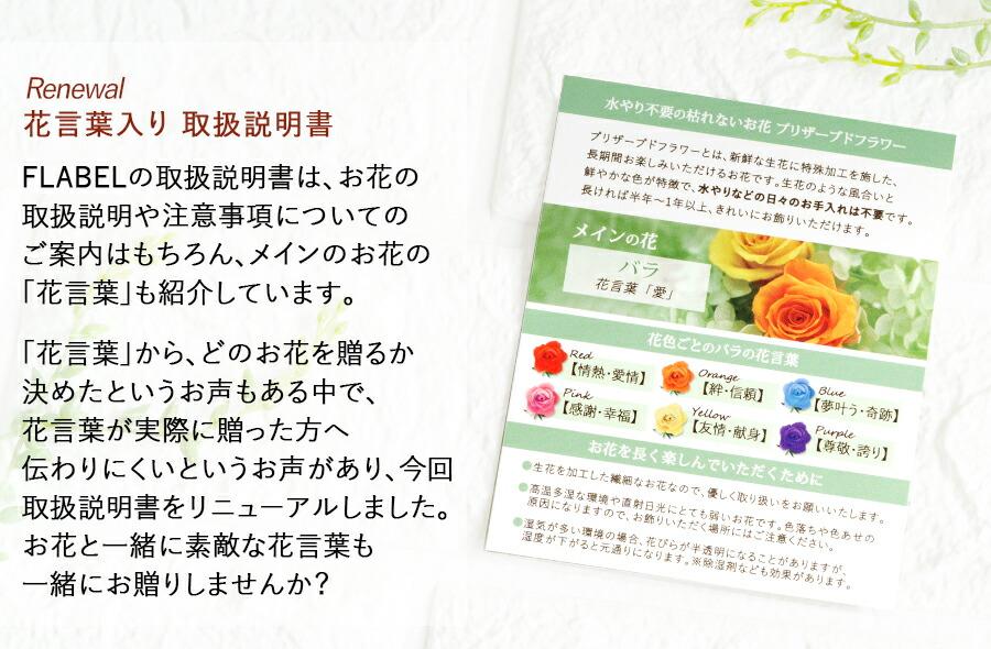 花言葉カード バラ