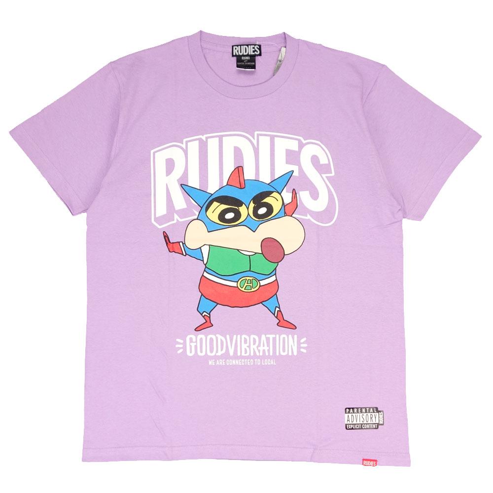 RUDIE'S/ルーディーズ クレヨンしんちゃん コラボ 半袖Tシャツ rudies/RUDIE'S x CRAYON SHINCHAN ACTIONKAMEN-T 85791 85792