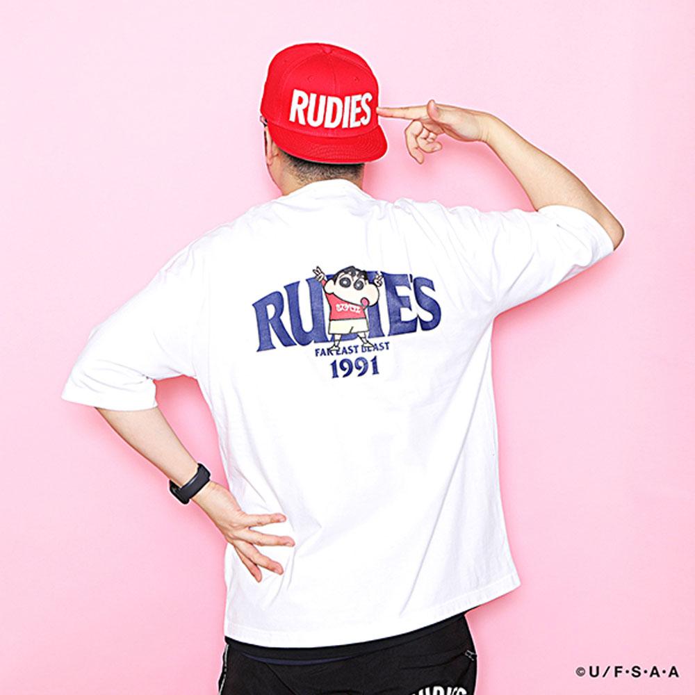 RUDIE'S/ルーディーズ クレヨンしんちゃん コラボ 半袖Tシャツ rudies/RUDIE'S x CRAYON SHINCHAN PEACE PKT-T 85787 85788