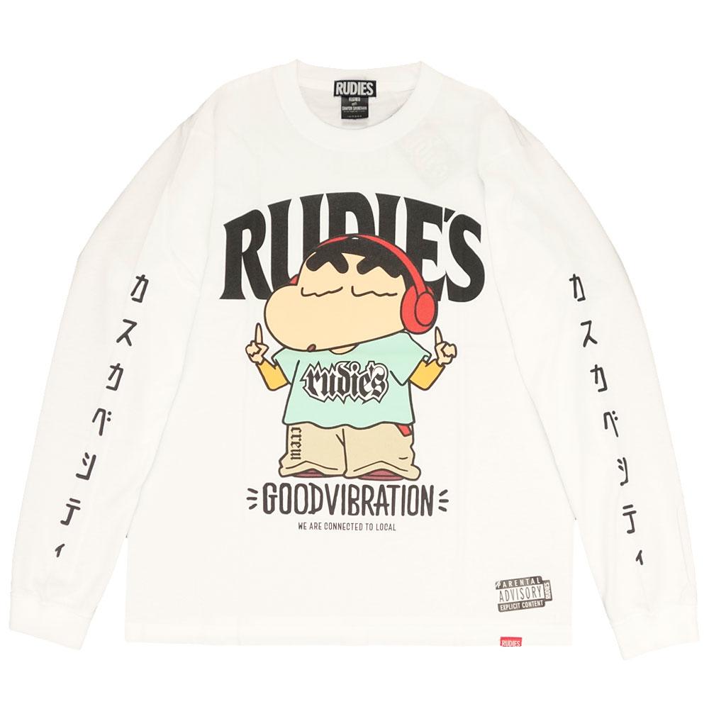 RUDIE'S/ルーディーズ クレヨンしんちゃん コラボ 長袖Tシャツ ロンT rudies/RUDIE'S x CRAYON SHINCHAN HEADPHONE LS-T 85785 85786