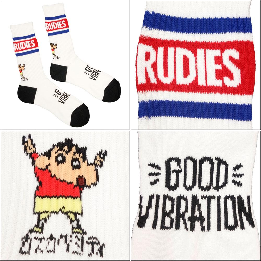 RUDIE'S/ルーディーズ クレヨンしんちゃん コラボ ソックス 靴下 rudies/RUDIE'S x CRAYON SHINCHAN PEACE SOCKS