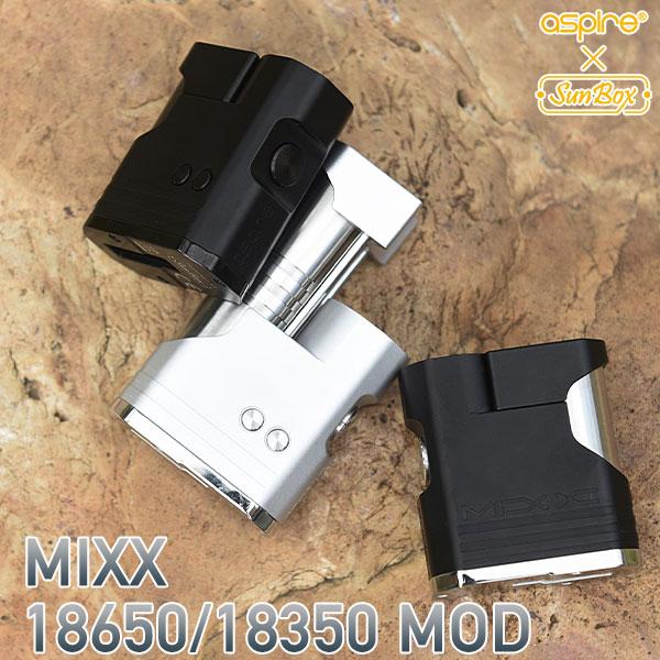 ASPIRE × SUNBOX  MIXX 18650/18350 MOD アスパイア サンボックス ミックス モッド vape テクニカル MOD ステルス テクニカルBOXMOD 18650 シングル 18350 ステルスMOD テクニカル