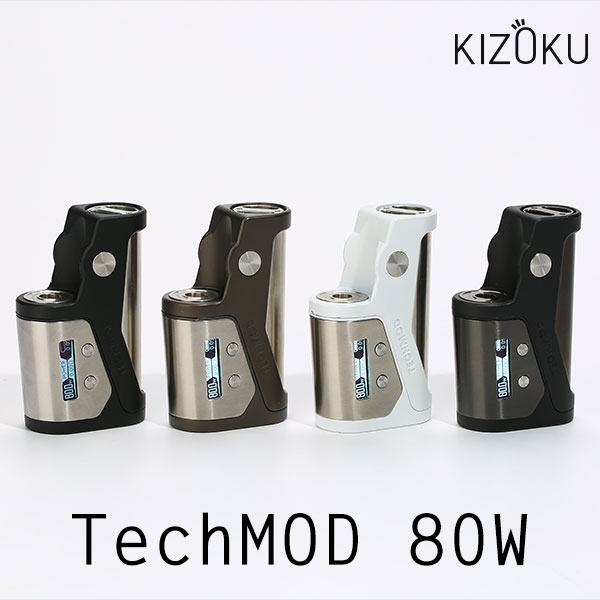 Kizoku Techmod 80W MOD キゾクテック テックモッド キゾク テック 18650 シングル vape ステルスMOD テクニカルMOD テクニカルBOXMOD