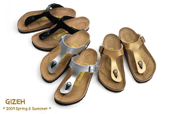 brand new c65e0 7b1b9 BIRKENSTOCK sandals Lady's tong GIZEH ギゼブラックパテント / white patent /BF flow  #043661 #543761 [SK]