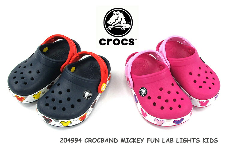 e7dc31f8f6 CROCS clocks kids sandals #204994 CROCBAND MICKEY FUN LAB LIGHTS KIDS [SK]