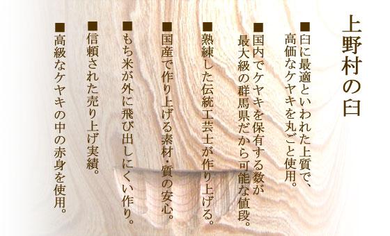 上野村の臼