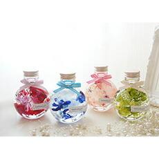 ハーバリウム ギフト プレゼントミニサイズ コロンと可愛い ねこ瓶タイプ 全4色