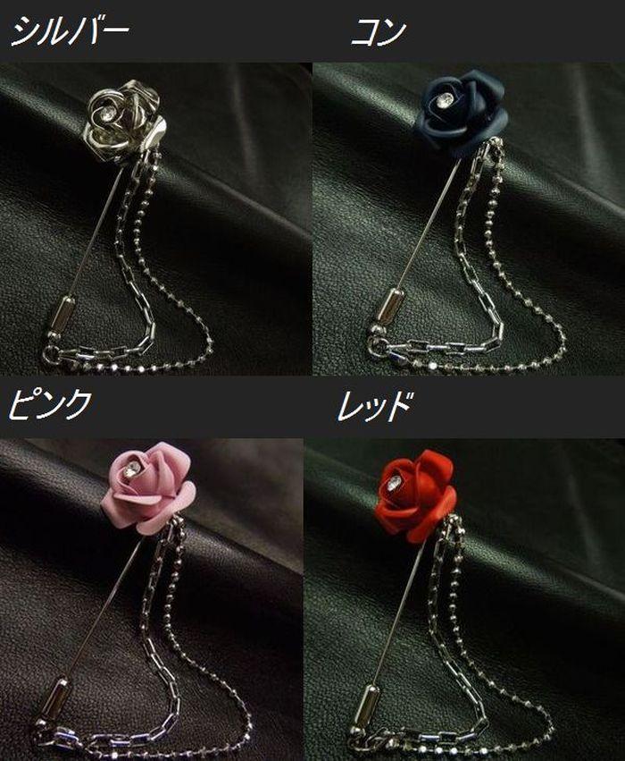薔薇のラペルピン