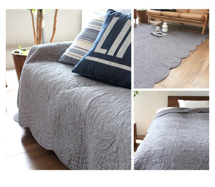 ソファやベッドにかけたり、ラグ代わりにもなるキルトのマルチカバーのおすすめは?