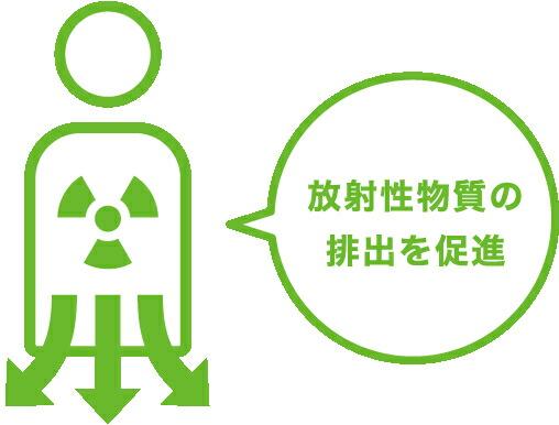 放射性物質の排出を促進