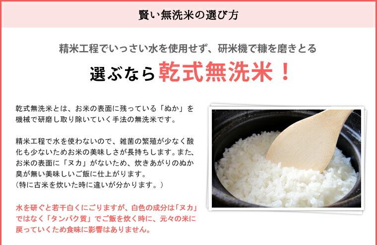 選ぶなら乾式無洗米!