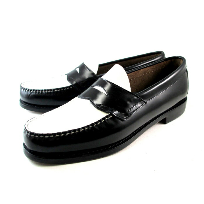 Mens Black And White Loafer Shoes