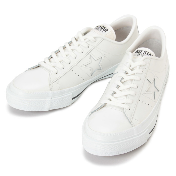 converse one star white leather