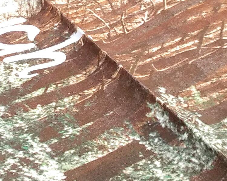 woodピクニックシートの表面