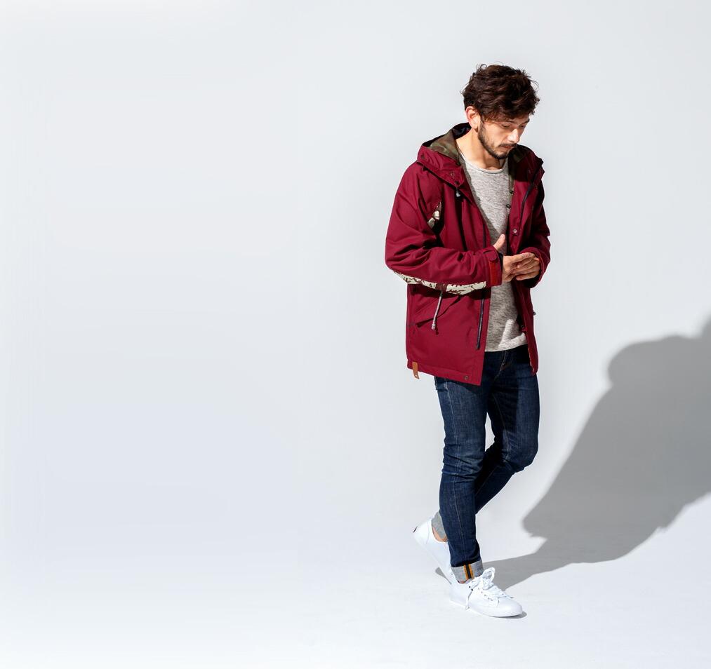 Mods coat ジャケット Burgundy 画像1